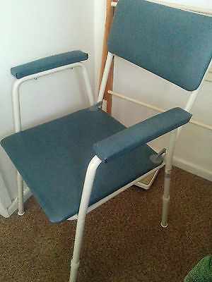 Commode chair, intact, used, good condition, adjustable legs/height