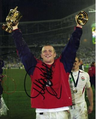 Mike Tindall Signed 10X8 Photo ENGLAND RUGBY Genuine SIgnature AFTAL COA (2380)