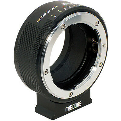 Metabones Nikon G Lens to Sony NEX Camera Lens Mount Adapter (Matte Black) NEW!!