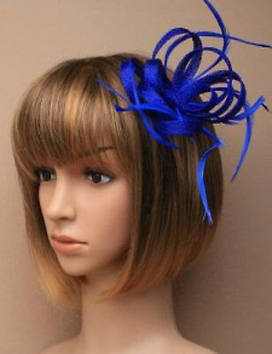 Royal Blue fascinator clip for Ascot , Races, Weddings, Ladies Day