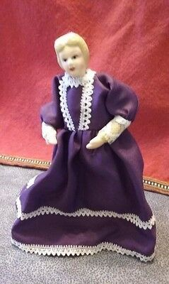 DOLL Grandmother/Mother COLONIAL 6 INCH MINI-PORCELAIN dollhouse figure NEW
