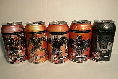 one set BIG RED TRSNSFORMERS COLLECTOR,S  cans