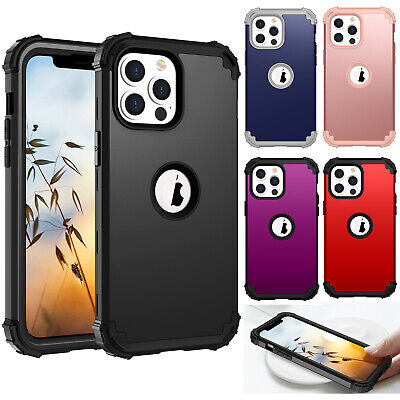 Protective Hybrid Rubber Shockproof Hard Case Cover For iPhone XS Max/8 6 7 Plus