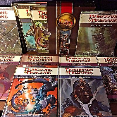 NEW! LOT 4th Ed DUNGEONS & DRAGONS Core Rulebooks Supplements Adventures! HC D&D