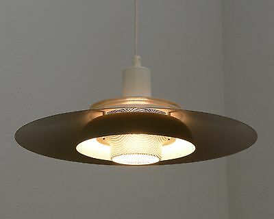 1960s Space Age Danish Modern UFO Hanging Lamp Fixture Mid Century Vintage