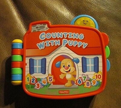 Fisher-Price~Counting With Puppy~Electronic Story Book Toy~Laugh A& Learn