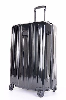 """$515 Tumi V3 Short Trip Spinner Suitcase Black Style 0228064D Polycarbonate 26"""""""