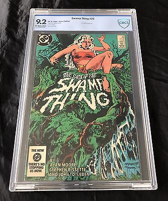 Swamp Thing #25 (6/1984) Cbcs 9.2 Not Cgc Ow-W Pages 1St Cameo App Constantine
