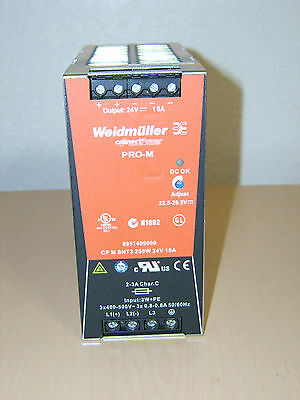 Seimens Weidmuller 480 vac din Rail Mount Power Supply CP M SNT3 250W 24V DC 10A