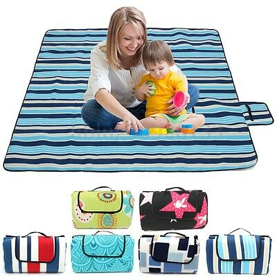 200x200cm Impermeabile Beach Camp Picnic escursionismo Plaid Blanket Mat Tappeto