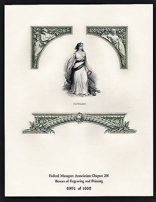 Bep Fma Intaglio Print Allegory Of Victory Vignette Souvenir Card