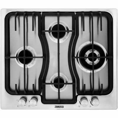 Zanussi ZGX66424XS Built In 59cm 4 Burners Gas Hob Stainless Steel New from AO