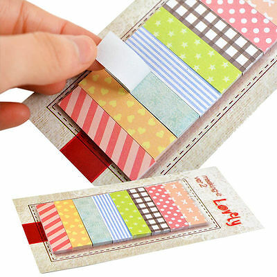 Sweet Colors 160 Pages Post-it Sticker Bookmark Marker Memo Notepad Sticky Notes