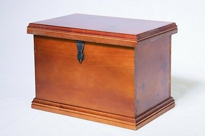 File Box - Wooden - Lockable - Hinged Lid - Hang Files and Folders