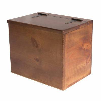 Storage Box - Wooden - Flat Top - Hinged Lid - Versatile storage for the home