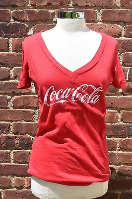 Coca-Cola Women's Graphic Red Tee Shirt Size L