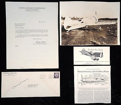 1936 HAWKS-MILLER GEE BEE TIME FLIES RACER PHOTO GROUP with HOWELL MILLER LETTER