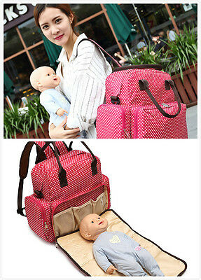 Large Baby Diaper Nappy Backpack Changing Bag Mummy Tote Handbag Shoulder Bag