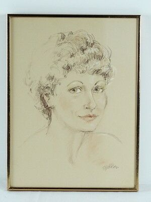 Art Sale : Stunning Female Portrait Drawing by Norma Dickason - Listed Artist
