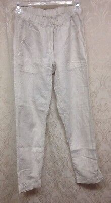 NWOT J. Crew women's Sz 00 cream linen/cotton blend, pants