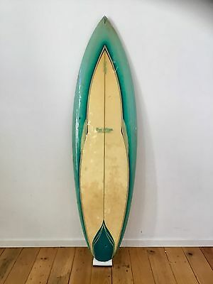 Vintage 1970's Pipe Dream Single Fin Surfboard By Zappa