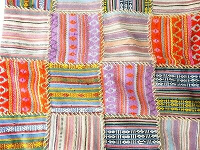 3 Asiatic Pillow covers embroidered Kalaga Thai and Woven hand Loomed Indian