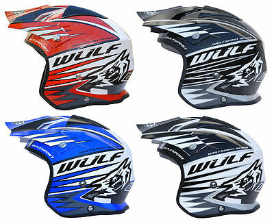 wulfsport tri-action offroad motorcycle trials bike fibreglass Trial helmet
