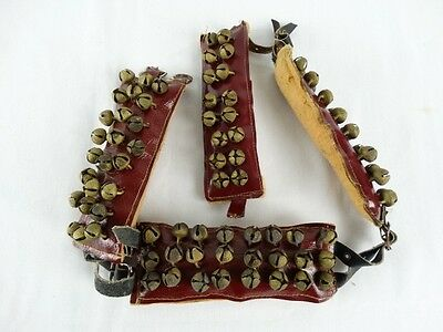Old Ghungroos - leg bells for Indian classical dance - Brass on Leather گھنگرو)