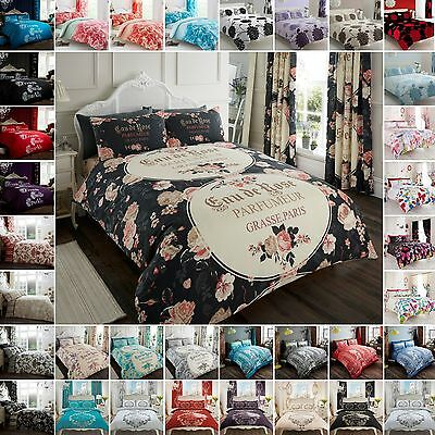 Duvet Quilt Cover Modern Printed With Pillowcase Bedding Set Single Double King