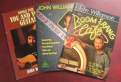 John Williamson x3 Books Songs for You & Your Guitar Boomerang Cafe...Signed