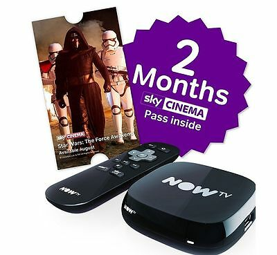 NOW TV Box with 2 Months Sky Cinema Pass - Brand New & Sealed