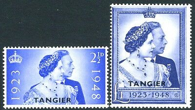 MOROCCO AGENCIES (TANGIER)-1948 Royal Silver Wedding Set Sg 255-256 UNMOUNTED/M