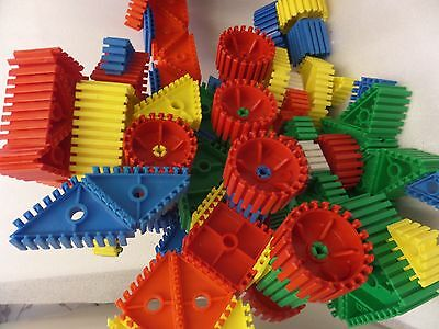 Large bundle of used Super Glisso childrens building blocks