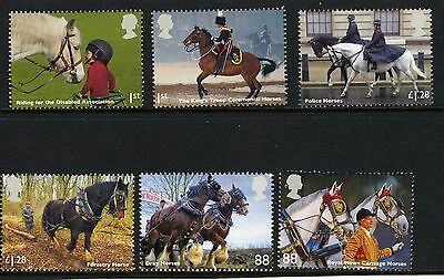 GB Stamps 2014 Working Horses Set of 6