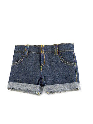 """Blue Jean Shorts Fits American Girl or Boy 18"""" Doll Clothes"""