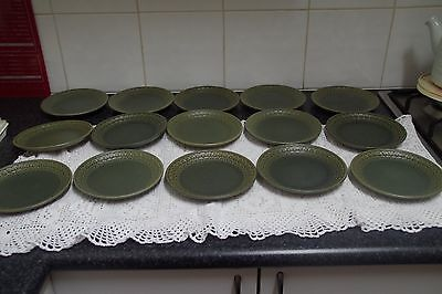 Midcentury WEDGWOOD stoneware Cambrian Green  Pennine side bread & butter plate