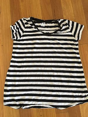 Bub2B Maternity Black and white Striped Top - size 12