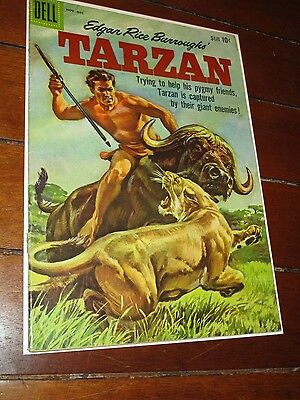 Tarzan #115-1959-Dell-Painted Cover- Burroughs- Marsh- Manning