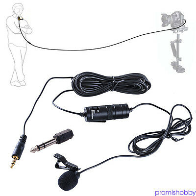 For BOYA BY-M1 Omnidirectional Lavalier Microphone fr Canon Nikon Camcorder TOP