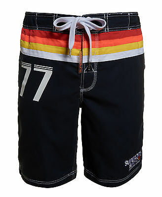 New Mens Superdry Super Retro Board Shorts Darkest Navy