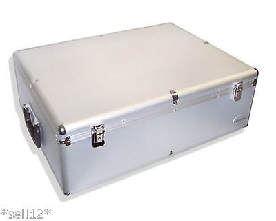 1000 piece DJ case CD/DVD/BLU-RAY BOX WITH CASES for MUSIC STORAGE ALUMINUM LOOK