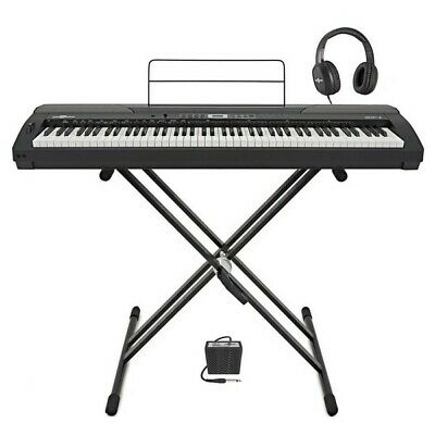 SDP-4 Stage Piano by Gear4music + Stand Pedal and Headphones