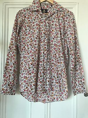 Liberty of London mens regular fit long sleeve floral shirt size 15 ½