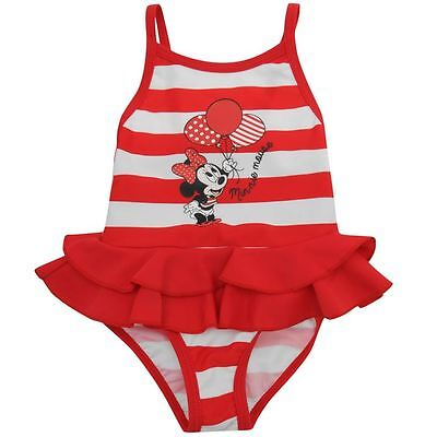 DISNEY MINNIE MOUSE NEWBORN BABY GIRLS SWIMMING COSTUME SWIMSUIT  (6-9 Months)
