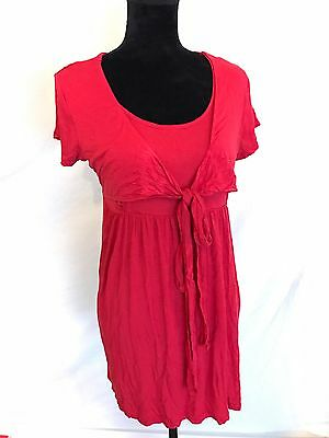 Ladies Women's Pregnancy Nursing Breastfeeding Top Red Size XS S 8 10 12