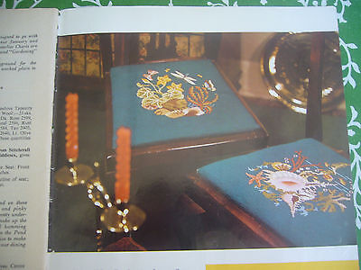 Vintage Stitchcraft Magazine With  Tapestry Chart  Chair Seat 1965