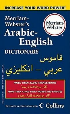 NEW M-W Arabic-English Dictionary By Merriam-Webster Paperback Free Shipping