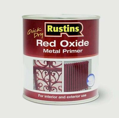 Rustins Quick Dry Red Oxide Metal Primer Interior/Exterior In 250ml, 500ml Or 1L