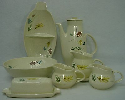 FRANCISCAN china AUTUMN pattern 9-piece HOSTESS SERVING Set