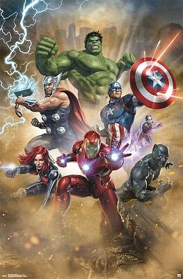 AVENGERS - FANTASTIC CHARACTER COLLAGE POSTER 22x34 - MARVEL COMICS 15571